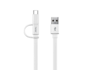 AP55 HUAWEI cable microUSB + Type C white bulk