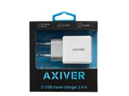 ATC34-2U AXIVER charger 2 USB 3.4A white box