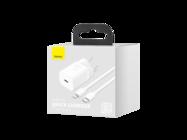 Baseus Super Si PD 20W charger 1x USB-C + USB-C cable - Lightning white box