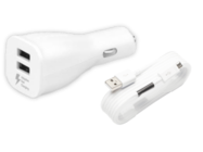 EP-LN920 Samsung car charger white bulk + cable ECB-DU4EWE plastic