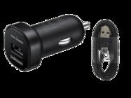 EP-LN930 Samsung car charger black bulk + EP-DG950CBE cable