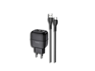HOCO  C77A charger + typ-C cable 2USB 2,4A black box