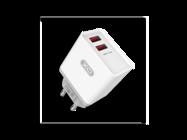 L31 XO 2xUSB 2.4A white box charger + micro cable