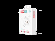 L60 XO charger double 18W PD USB QC3.0 / PD Type-C white box