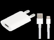 MD813ZM/A A1400 Apple ładowarka sieciowa + MD818ZM/A cable FLEXTRONICS white bulk