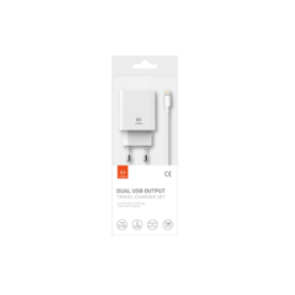 CH-6720 Mcdodo charger Dual 2,4A + lightning cable white box