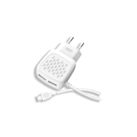 L51 XO 2xUSB 2.1A white box charger + lightning cable