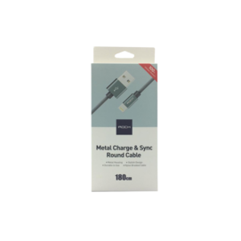 RCB0432 ROCK lightning cable nylon gray box