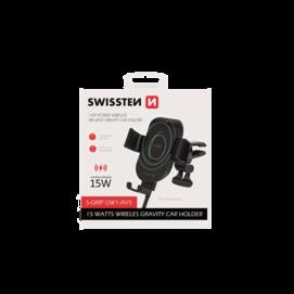 Swissten car holder GW1-AV5 + wireless charger 15W box