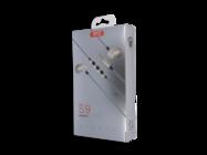 S9 XO Wired headphones 3.5mm jack gold box