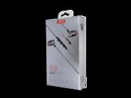 S9 XO Wired headphones 3.5mm jack gray box