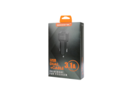SMS-A15 Somostel car charger 1A 2xUSB + microUSB cable 2,1A black box