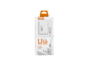 SMS-A52 Somostel wall charger + microUSB cable 2A 2xUSB white box