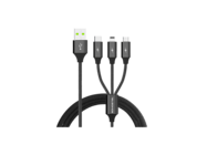 SMS-BW03 Somostel 3in1 cable 3,4A QC 3,0 1,2M black box