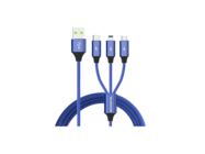 SMS-BW03 Somostel 3in1 cable 3,4A QC 3,0 1,2M blue box