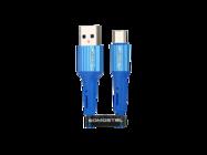 SMS-BW06 Somostel kabel microUSB 3,6A QC 3,0 1M blue box