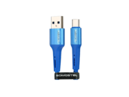 SMS-BW06 Somostel Type-C cable 3,6A QC 3,0 1M blue box