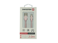 SWISSTEN cable Lightning 2m rose/gold box