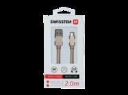 SWISSTEN cable MicroUSB 2m gold box