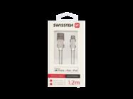 SWISSTEN cable USB-C/Lightning 1,2m silver MFi box