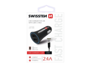 SWISSTEN Car Charger 2x USB 2.4A black box + Type-C cable