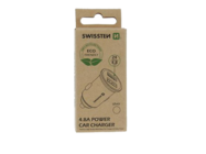 Swissten car charger 2x USB 4,8A metal ECO PACK silver box