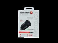 Swissten car charger 36W USB-C QC METAL black box