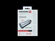Swissten car charger QC 3.0 + USB-C 36W METAL silver box