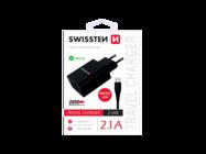 SWISSTEN charger 2x USB Smart IC black box + Micro USB cable