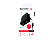 SWISSTEN charger 2x USB Smart IC + microUSB cable black box