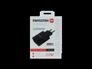 Swissten wall charger 2x USB QC 3.0 23W black box