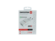 Swissten wall charger 2x USB QC 3.0 23W white box