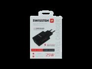 Swissten wall charger IPHONE 12 & SAMSUNG 25W black box