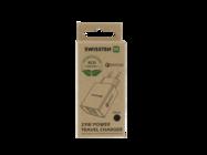 Swissten wall charger QC 3.0 23W 2x USB + USB ECO PACK black box