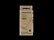Swissten wall charger SMART IC 2x USB 2,1A ECO PACK black box